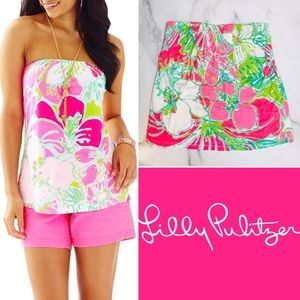 Lilly Pulitzer Tyra Tube Top in Flamingo Pink